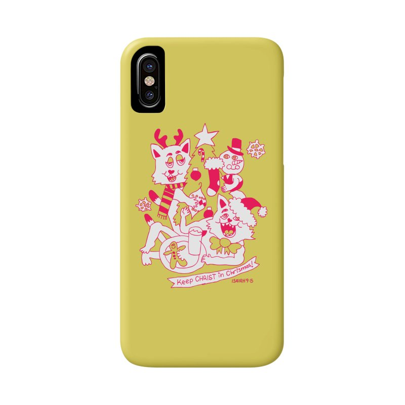 Catfriend Chrismas Lovers Accessories Phone Case by Spencer Fruhling's Artist Shop