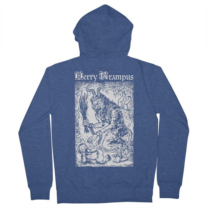 Merry Krampus Men's Zip-Up Hoody by Spencer Fruhling's Artist Shop