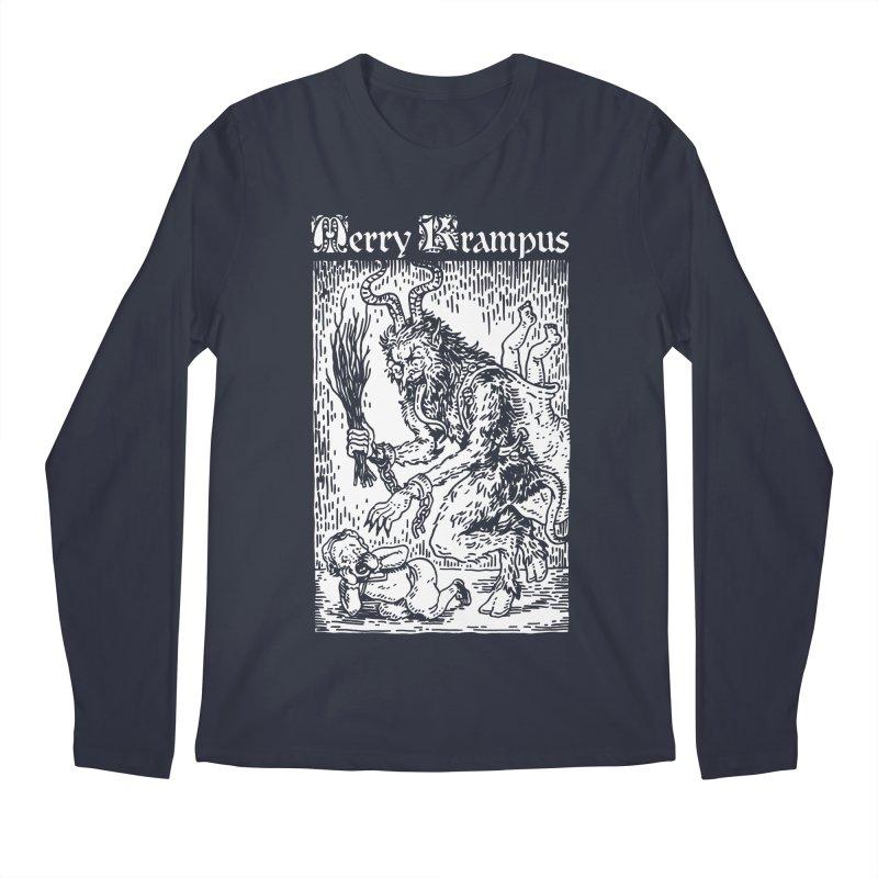 Merry Krampus Men's Longsleeve T-Shirt by Spencer Fruhling's Artist Shop