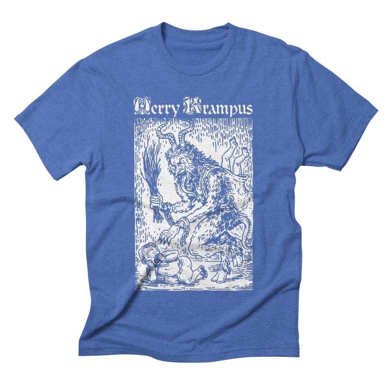 Merry Krampus Men's Triblend T-Shirt by Spencer Fruhling's Artist Shop