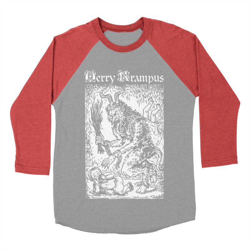Merry Krampus Women's Baseball Triblend T-Shirt by Spencer Fruhling's Artist Shop