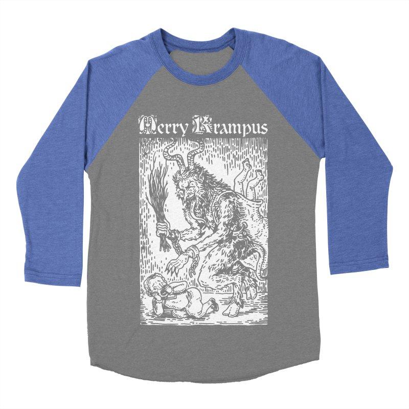 Merry Krampus Men's Baseball Triblend T-Shirt by Spencer Fruhling's Artist Shop