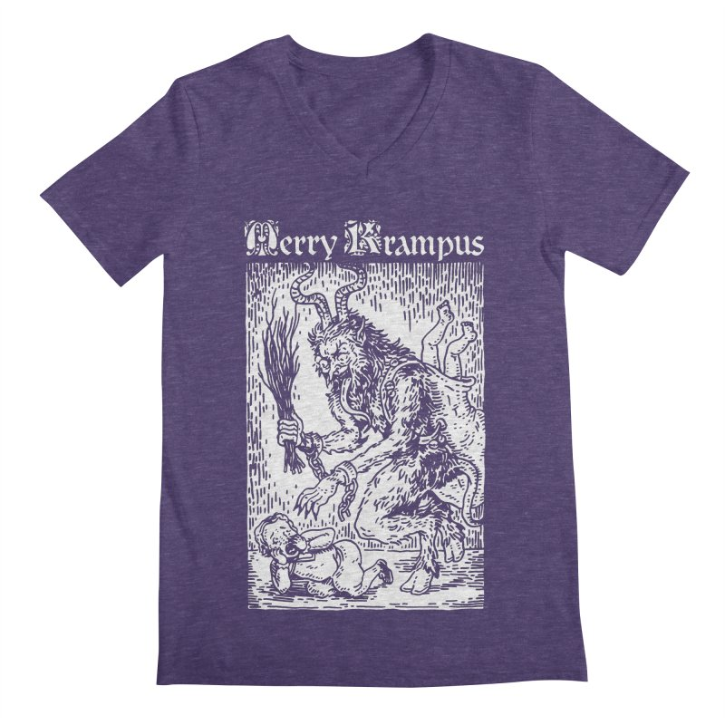Merry Krampus Men's V-Neck by Spencer Fruhling's Artist Shop
