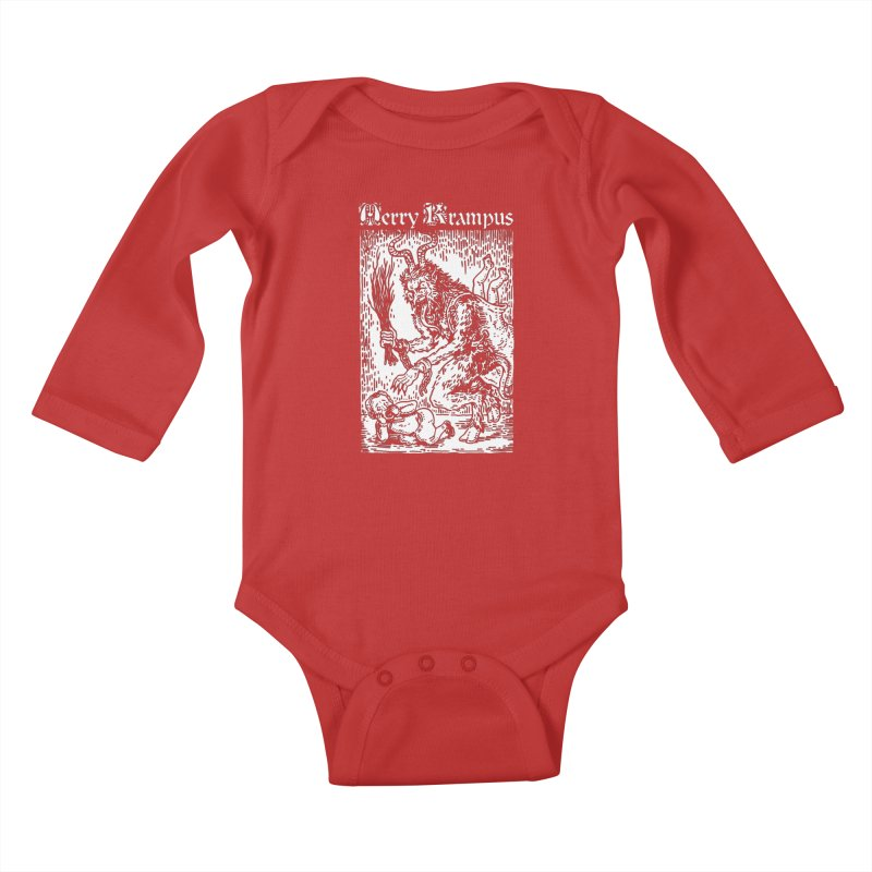 Merry Krampus Kids Baby Longsleeve Bodysuit by Spencer Fruhling's Artist Shop
