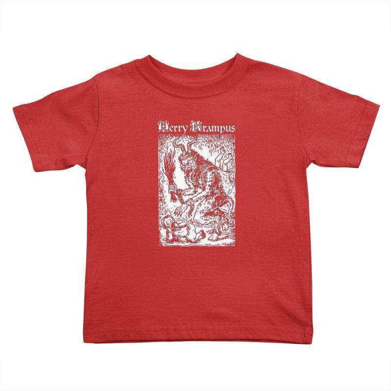 Merry Krampus Kids Toddler T-Shirt by Spencer Fruhling's Artist Shop