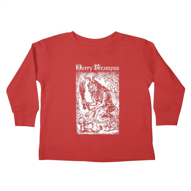 Merry Krampus Kids Toddler Longsleeve T-Shirt by Spencer Fruhling's Artist Shop