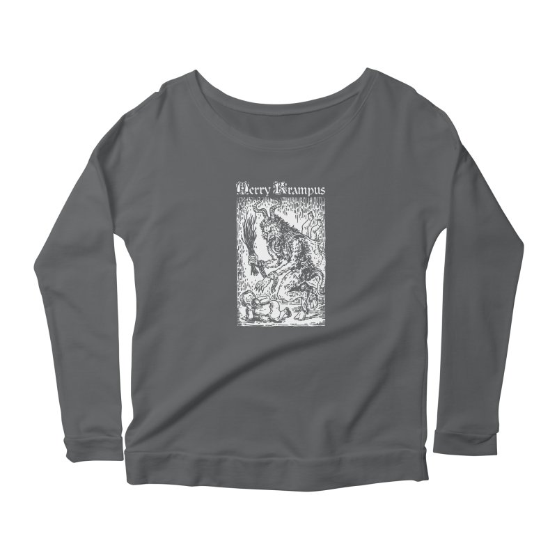 Merry Krampus Women's Longsleeve T-Shirt by Spencer Fruhling's Artist Shop
