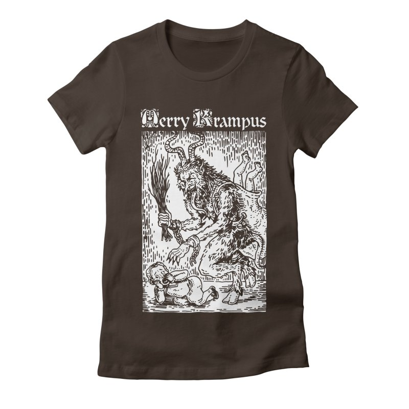 Merry Krampus Women's Fitted T-Shirt by Spencer Fruhling's Artist Shop