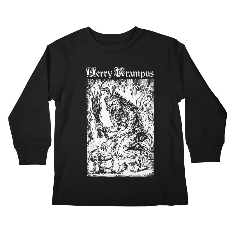 Merry Krampus Kids Longsleeve T-Shirt by Spencer Fruhling's Artist Shop