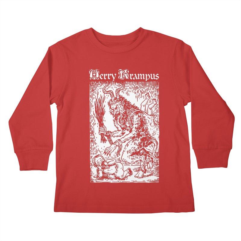 Merry Krampus Kids Longsleeve T-Shirt by Spencer Fruhling's Artist Shop