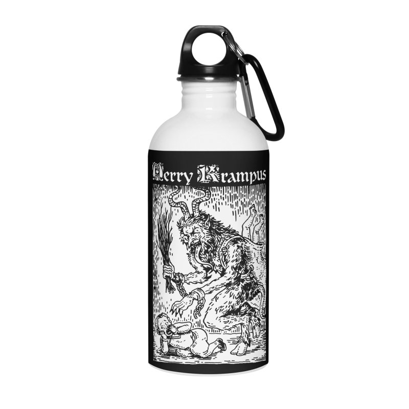Merry Krampus Accessories Water Bottle by Spencer Fruhling's Artist Shop