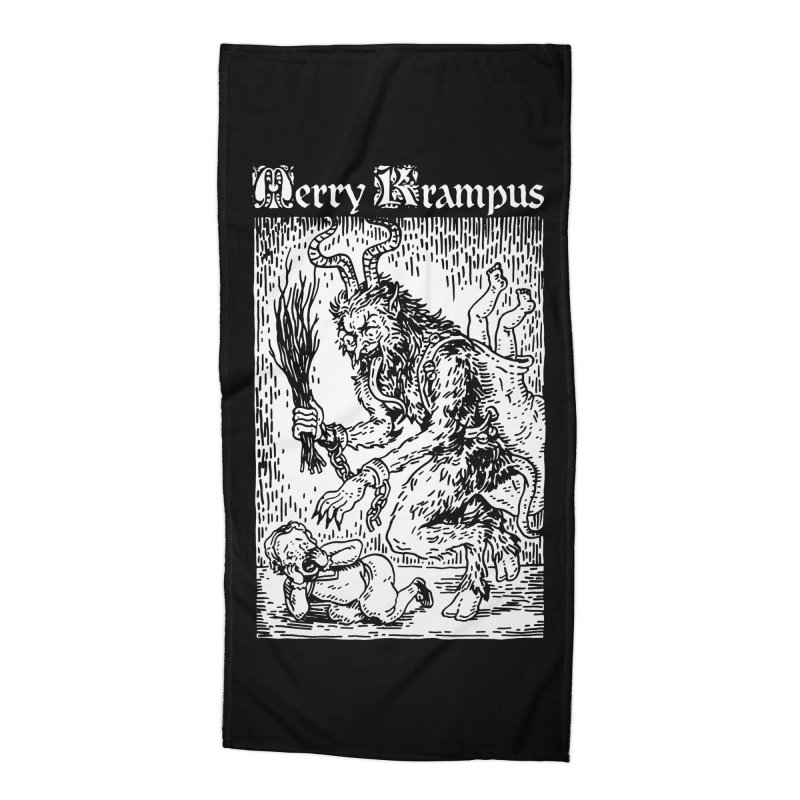 Merry Krampus Accessories Beach Towel by Spencer Fruhling's Artist Shop