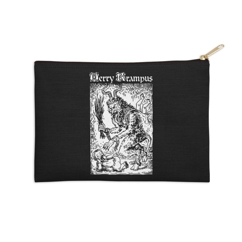 Merry Krampus Accessories Zip Pouch by Spencer Fruhling's Artist Shop