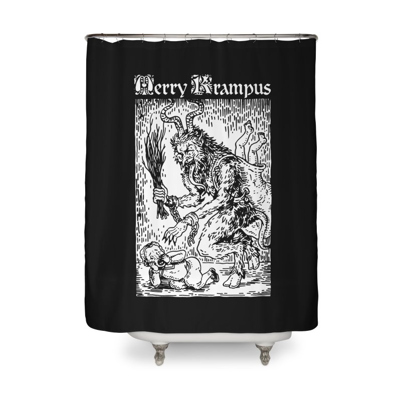 Merry Krampus Home Shower Curtain by Spencer Fruhling's Artist Shop