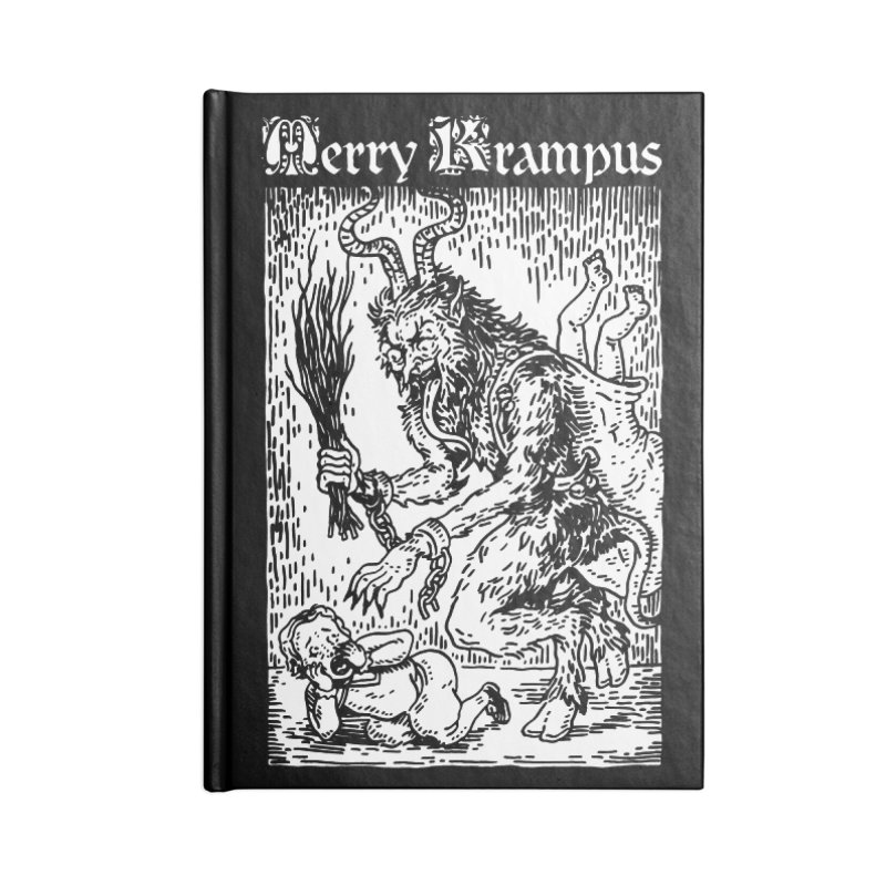 Merry Krampus Accessories Notebook by Spencer Fruhling's Artist Shop