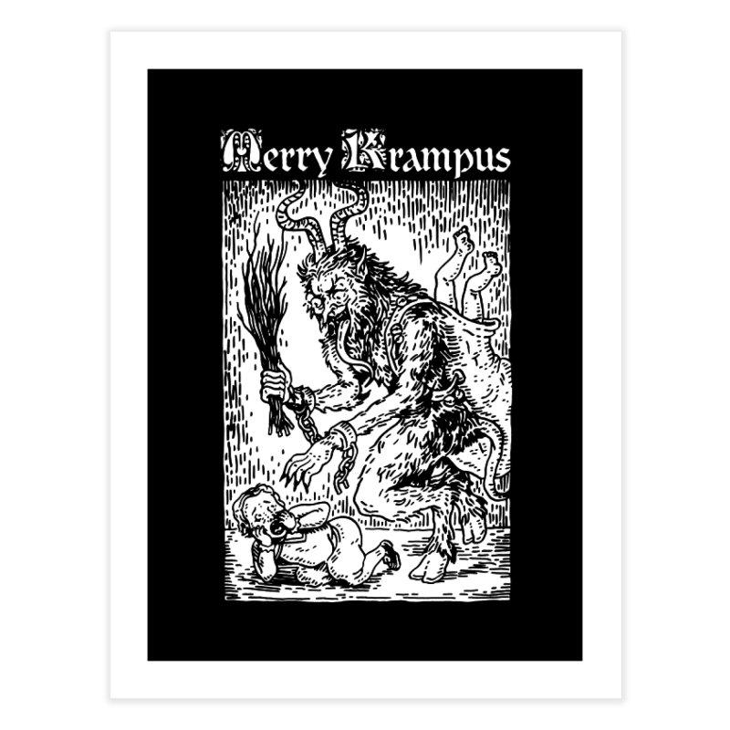 Merry Krampus Home Fine Art Print by Spencer Fruhling's Artist Shop