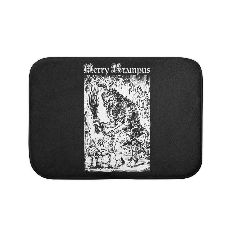 Merry Krampus Home Bath Mat by Spencer Fruhling's Artist Shop