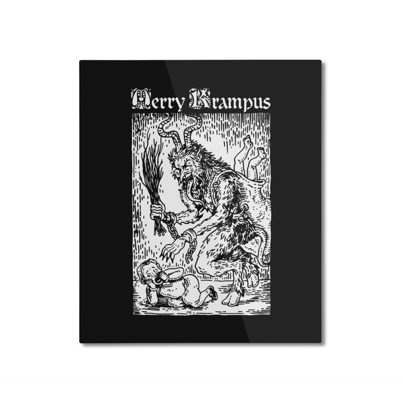 Merry Krampus Home Mounted Aluminum Print by Spencer Fruhling's Artist Shop