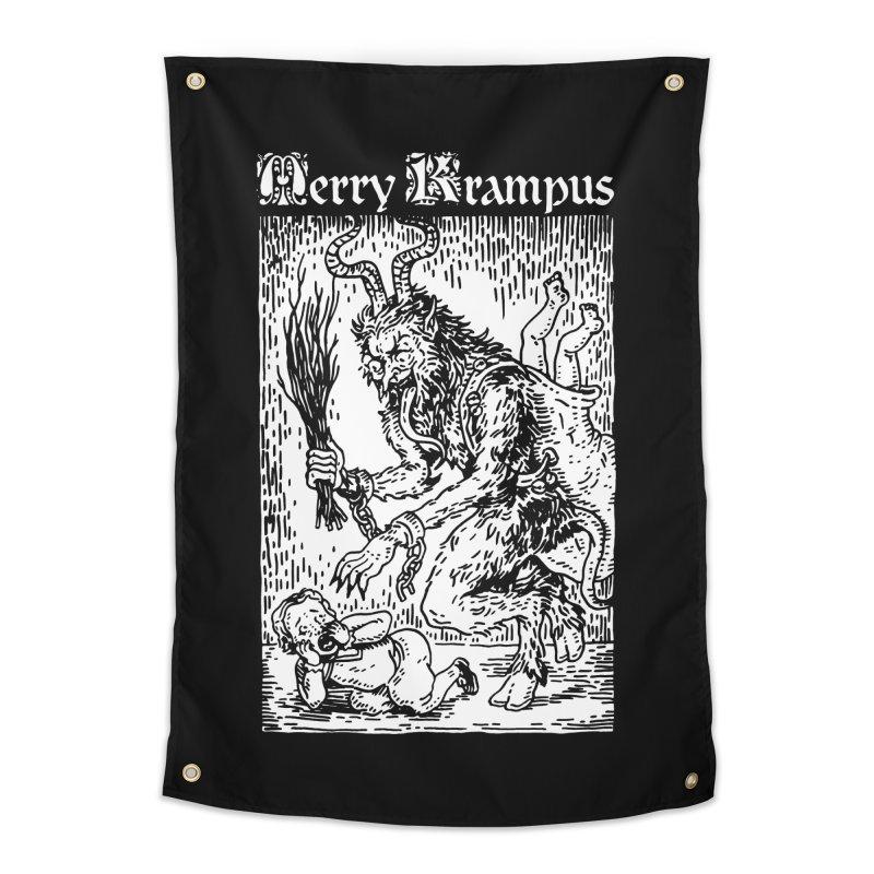 Merry Krampus Home Tapestry by Spencer Fruhling's Artist Shop