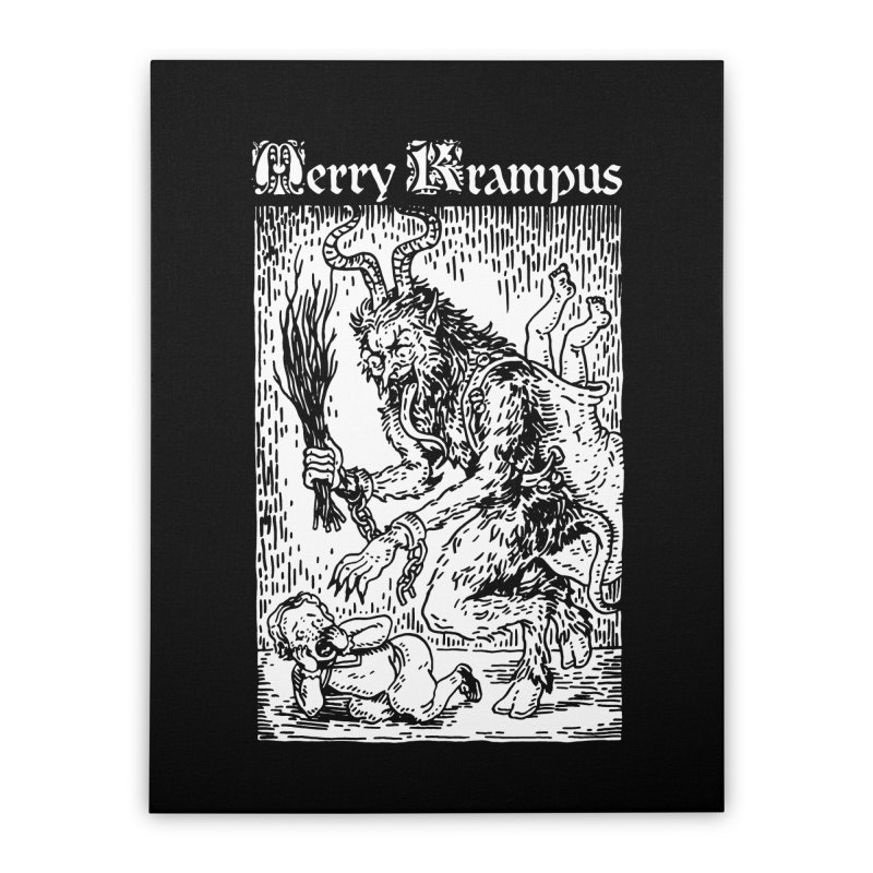 Merry Krampus Home Stretched Canvas by Spencer Fruhling's Artist Shop