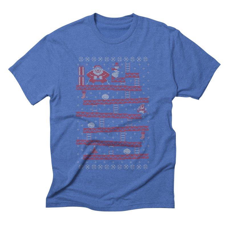 Santa Kong Men's Triblend T-Shirt by Spencer Fruhling's Artist Shop