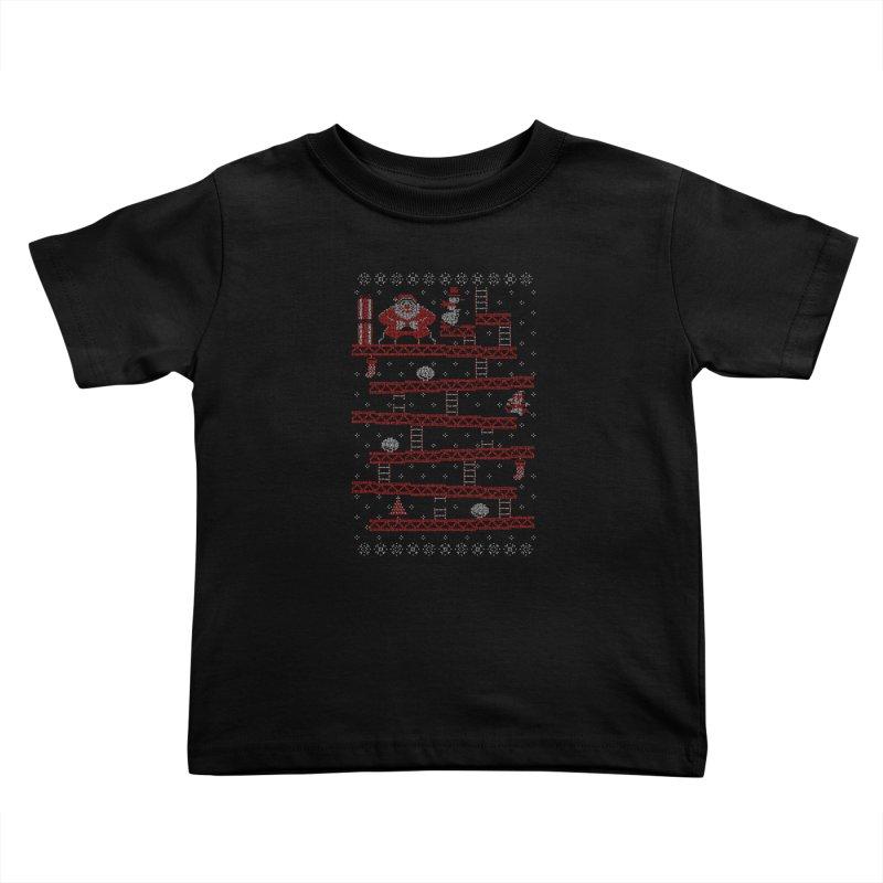 Santa Kong Kids Toddler T-Shirt by Spencer Fruhling's Artist Shop