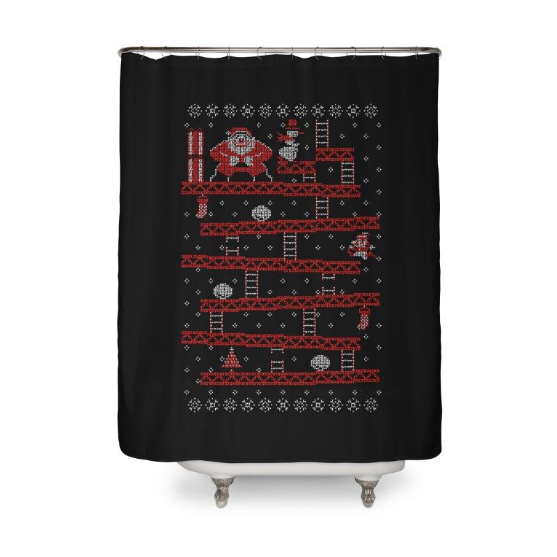 Santa Kong Home Shower Curtain by Spencer Fruhling's Artist Shop