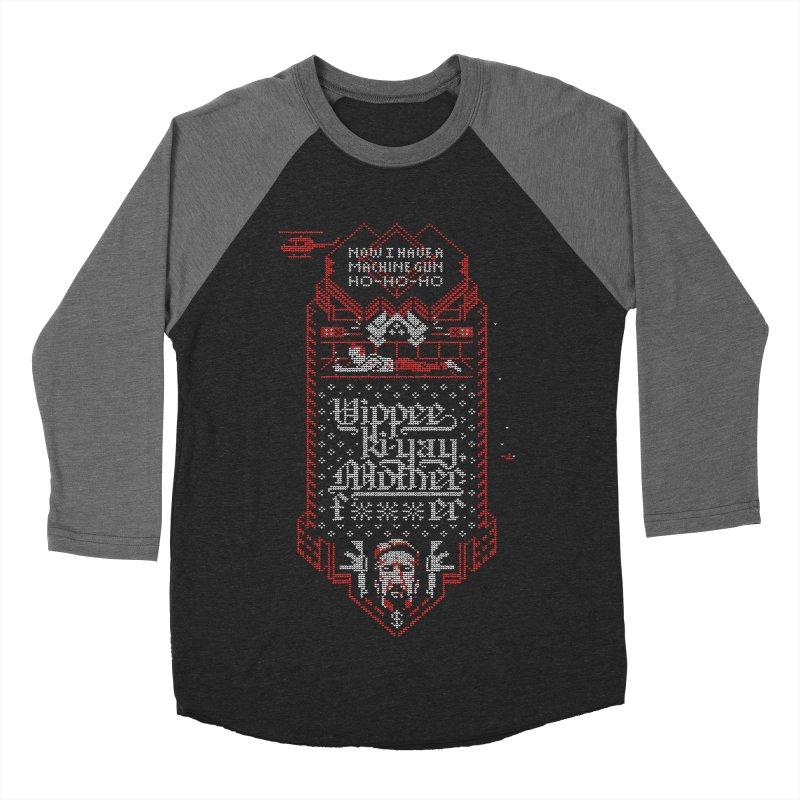 Yippee Ki-Yay Men's Baseball Triblend T-Shirt by Spencer Fruhling's Artist Shop