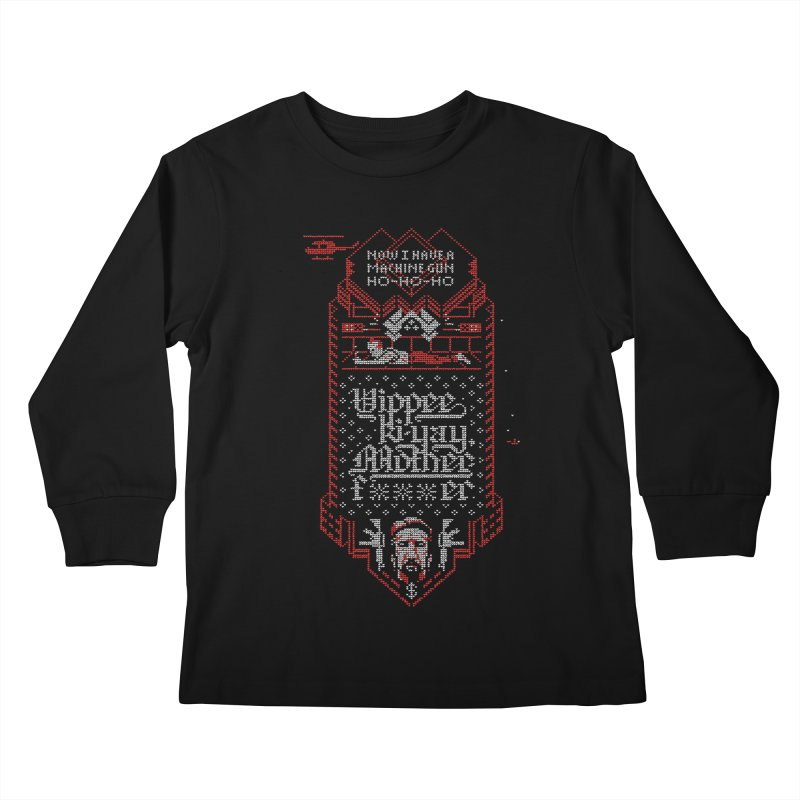 Yippee Ki-Yay Kids Longsleeve T-Shirt by Spencer Fruhling's Artist Shop
