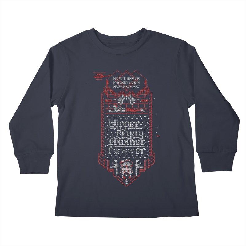 Yippee Ki-Yay Kids Longsleeve T-Shirt by Spencer Fruhling's Artist Shop
