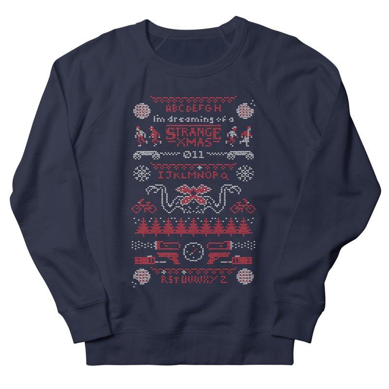 Strange Xmas Men's French Terry Sweatshirt by Spencer Fruhling's Artist Shop