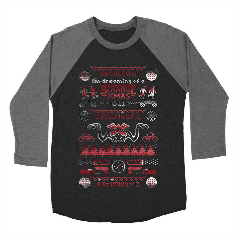 Strange Xmas Women's Baseball Triblend T-Shirt by Spencer Fruhling's Artist Shop
