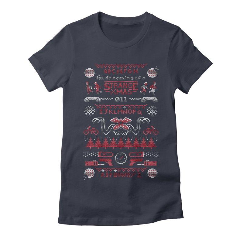 Strange Xmas Women's Fitted T-Shirt by Spencer Fruhling's Artist Shop