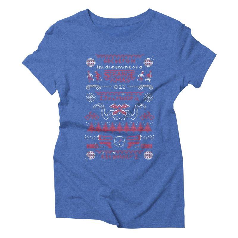 Strange Xmas Women's Triblend T-Shirt by Spencer Fruhling's Artist Shop