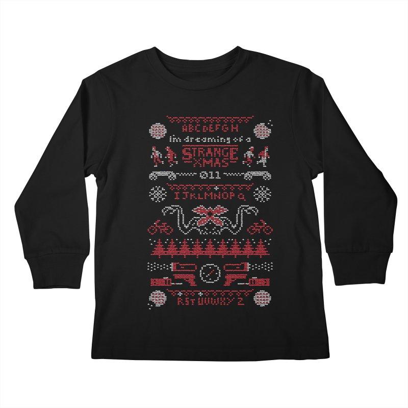 Strange Xmas Kids Longsleeve T-Shirt by Spencer Fruhling's Artist Shop