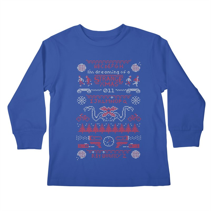 Strange Xmas Kids Longsleeve T-Shirt by Spencer Fruhling's Artist Shop
