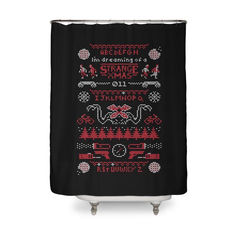 Strange Xmas Home Shower Curtain by Spencer Fruhling's Artist Shop