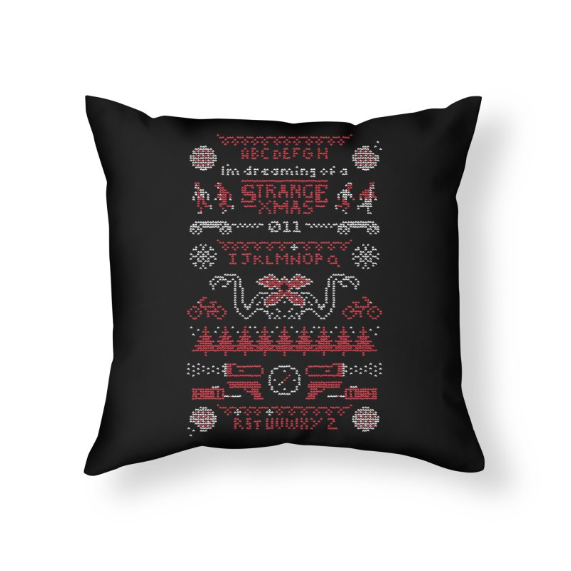 Strange Xmas Home Throw Pillow by Spencer Fruhling's Artist Shop