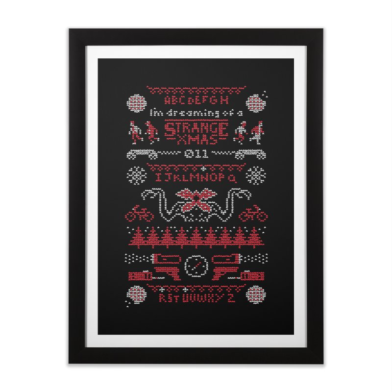 Strange Xmas Home Framed Fine Art Print by Spencer Fruhling's Artist Shop