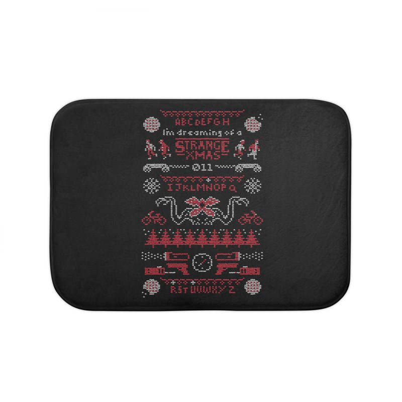 Strange Xmas Home Bath Mat by Spencer Fruhling's Artist Shop