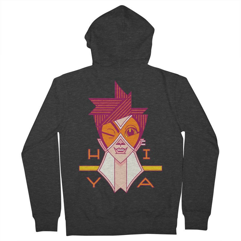 Hiya! Women's French Terry Zip-Up Hoody by Spencer Fruhling's Artist Shop