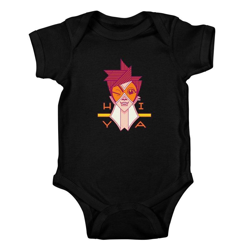 Hiya! Kids Baby Bodysuit by Spencer Fruhling's Artist Shop