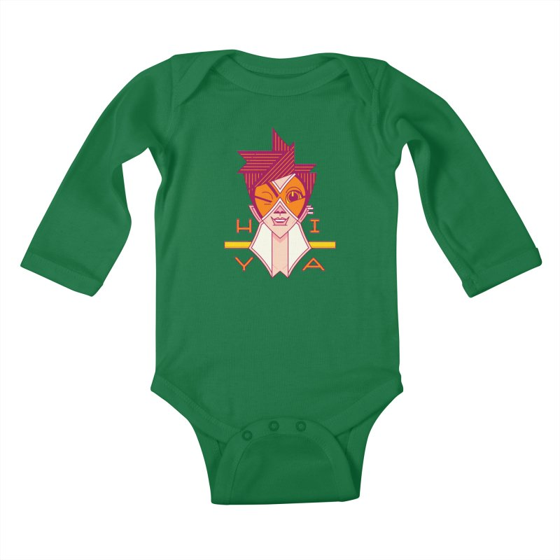 Hiya! Kids Baby Longsleeve Bodysuit by Spencer Fruhling's Artist Shop
