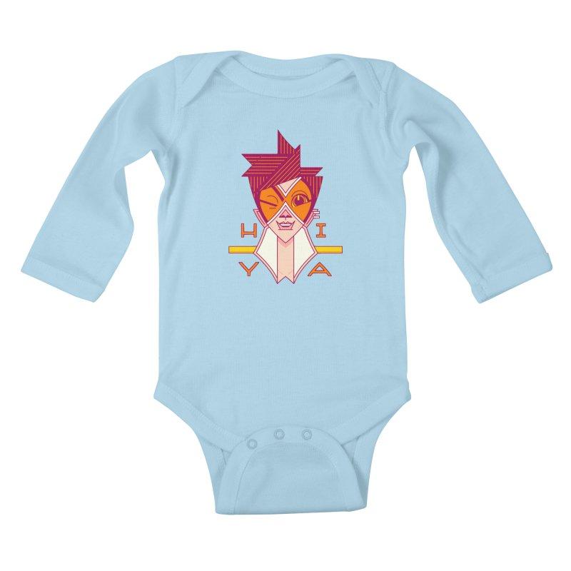 Hiya! Kids Baby Longsleeve Bodysuit by Spencer Fruhling's Artist Shop
