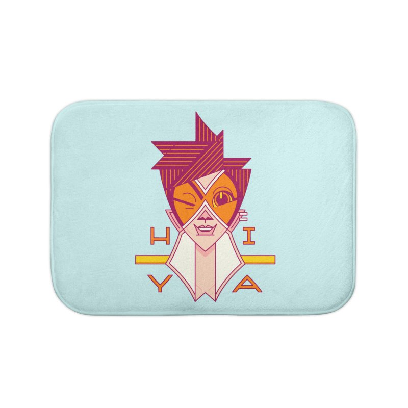 Hiya! Home Bath Mat by Spencer Fruhling's Artist Shop