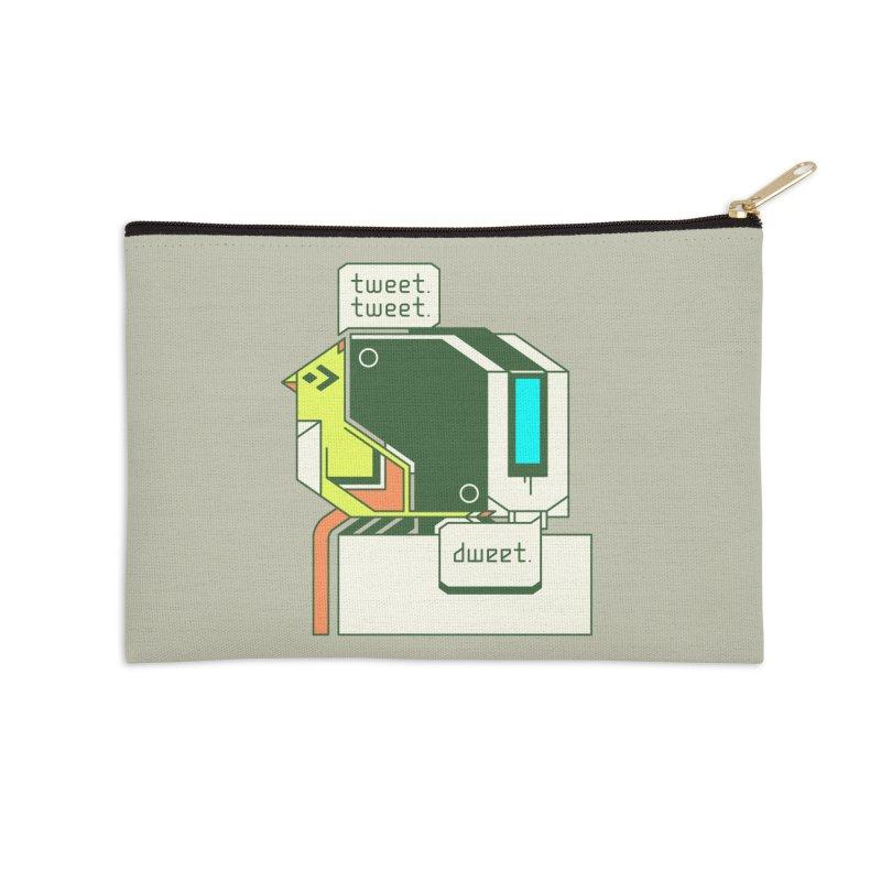 Tweet Tweet Dweet Accessories Zip Pouch by Spencer Fruhling's Artist Shop