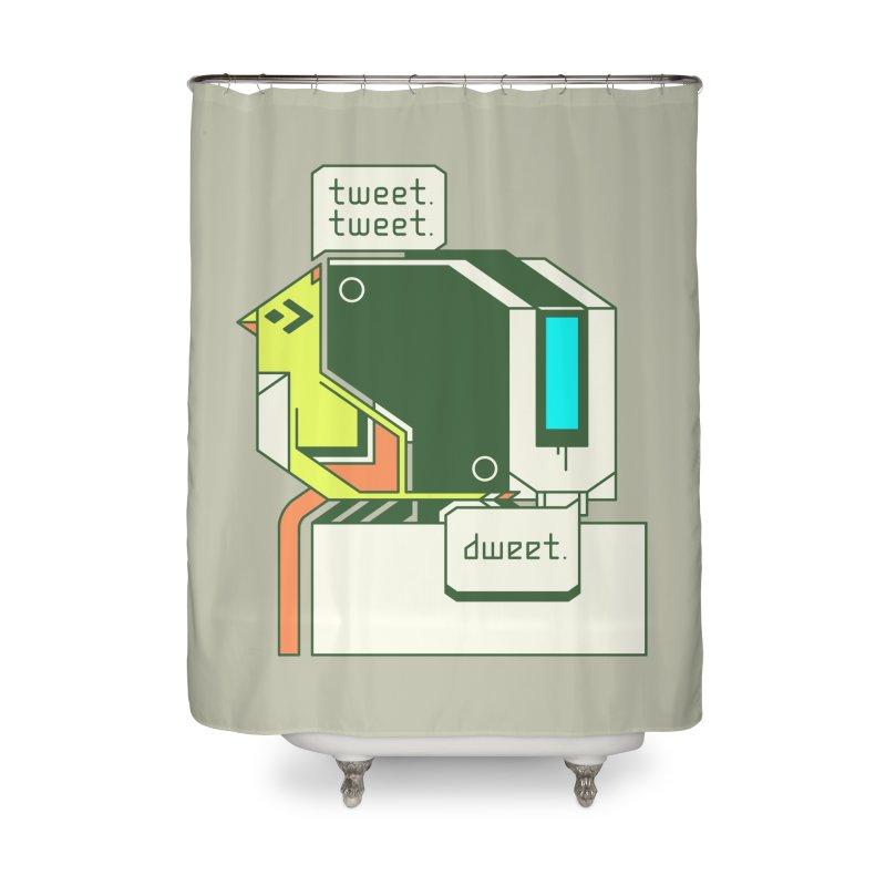 Tweet Tweet Dweet Home Shower Curtain by Spencer Fruhling's Artist Shop