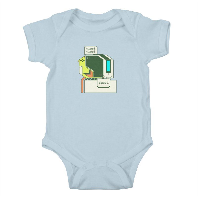 Tweet Tweet Dweet Kids Baby Bodysuit by Spencer Fruhling's Artist Shop