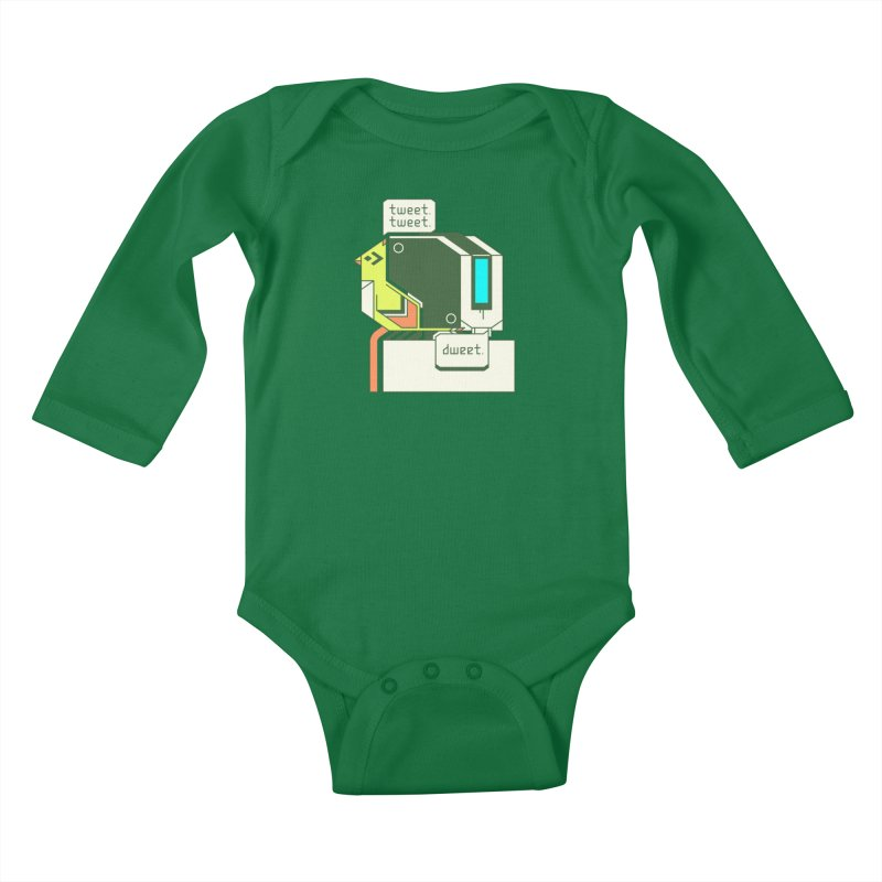 Tweet Tweet Dweet Kids Baby Longsleeve Bodysuit by Spencer Fruhling's Artist Shop