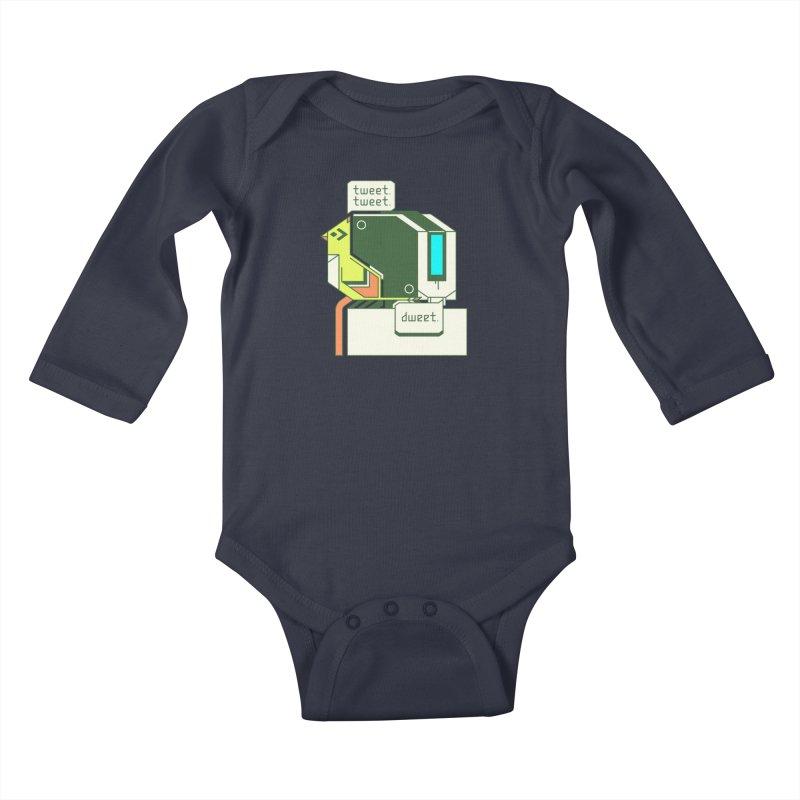 Tweet Tweet Dweet Kids Baby Longsleeve Bodysuit by Spencer Fruhling's Artist Shop